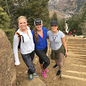 students climb the incline